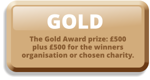 GOLD The Gold Award prize: £500 plus £500 for the winners organisation or chosen charity.